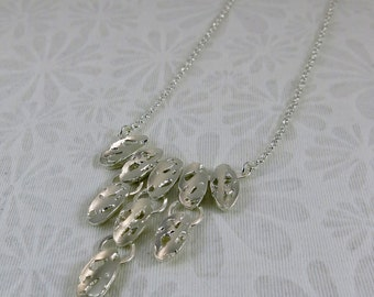 Necklace silver sterling/oval openwork/Silver necklace/Oval openwork/Silver jewelry/Handcrafted silver necklace