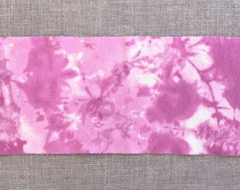 Bright Raspberry - Hand Dyed Wool Fabric Piece used for Rug Hooking and Applique -  Fat Eighth