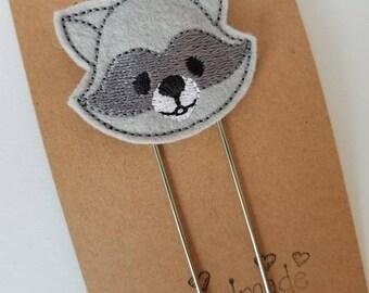 Raccoon Feltie Jumbo Bookmark - XL - Plannerclip - Planner Accessory - Small Gift
