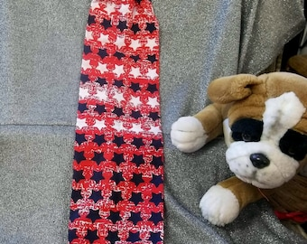 Plastic Bag Holder Sock, Stars on Red Print
