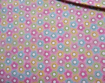 SALE: Riley Blake Cotton Flannel in Floral Pattern in Half-Yard