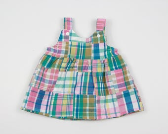 Madras Plaid Girls Dresses - First Birthday Dress for Girls - Baby Dress - Baby Girl Clothes - Toddler Girl Clothes - Pink Plaid Baby Dress
