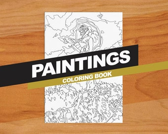Paintings Colouring Book