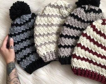 Piper Beanie Crochet Pattern // Easy // Written Tutorial