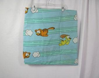 Vintage Jim Davis GARFIELD Twin Size Sheet Garfield And Odie