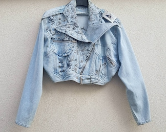Jacket DENIM TRAMWAY - Made in France - size Small