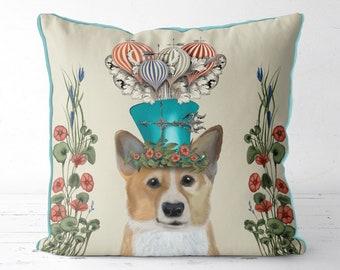 Corgi gift Corgi Pillow cover Corgi Cushion Corgi Dog print pillow dog lover gift pet decor dog cushion cover uk Nursery decor Cute Pillow