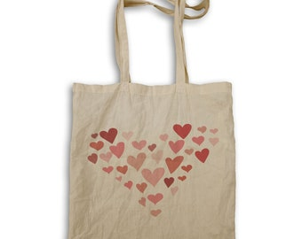 Heart made out of hearts Tote bag w123r