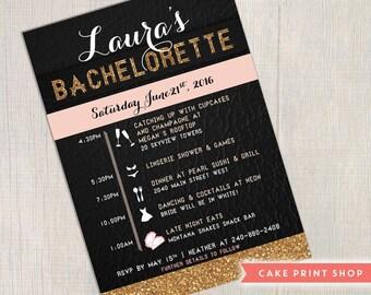 Bachelorette invitation, printable bachelorette invite, glitter bachelorette, glitter invitation, glitter birthday, birthday invitation