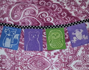 Batik Forest Animal Art Banner