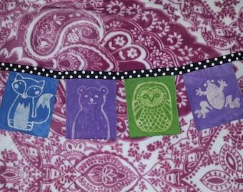 Batik Forest Animal Art Banner