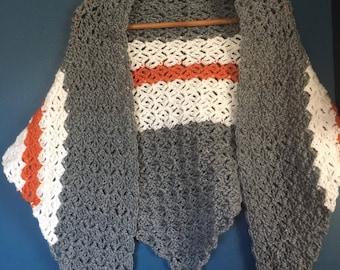 Striped Crochet Shawl
