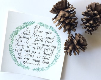 8x8 Ephesians 2:8-9