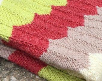 Knitting Pattern Baby Blanket Pattern Receiving Blanket Knit Pattern Easy Blanket Pattern Instant Download PDF Pattern CHEVRON BLANKET
