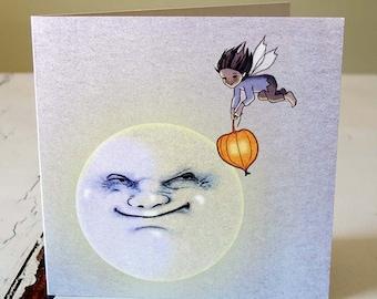 My friend the Moon card