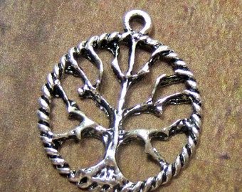 6 Antique silver Tree of life pendants meditation jewelry yoga charms tree of life charms 20mm CC5
