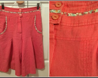 Vintage 1980s Doress Peach Walking Shorts - Size 5/6