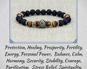 Tiger eye bracelet Men bracelet Leo jewelry Leo bracelet Zodiac jewelry Birthday gift for men gift for dad gift for boyfriend gift for him