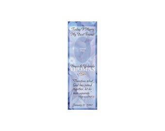 Blue Hydrangeas Wedding Bookmark Favors - Thank You Bookmarks - Photo Bookmarks (50 minimum.)