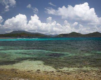 Landscape Photography, Bathroom Wall Art, Ocean Fine Art, Caribbean Beach Print, St. John USVI, Turquoise Home Decor, Travel Picture