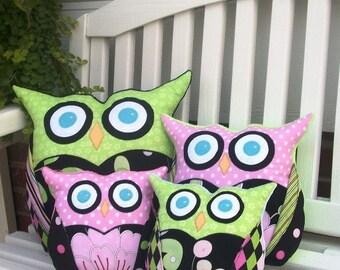 Owl Sewing Pattern - Owl Pillow - PDF Pattern 3 Sizes, Easy Pillow Pattern, Plushie Toy  Pattern, Sew Wise Owl Family Patterns