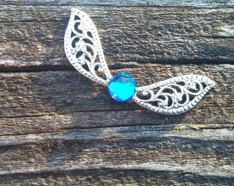Legend of Zelda - Navi Necklace - Navi Jewelry - Zelda Necklace - Zelda Jewelry - Fairy Necklace - Fairy Jewelry - Fairy Wings - BermudaBlue