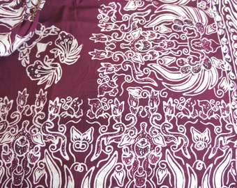 60 x 44 inch Cotton Batik Border Print Fabric