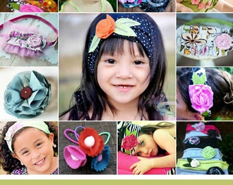 Hair Accessory and Flower Bundle Pack Pattern- How To  INSTANT DOWNLOAD
