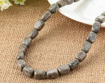 One Strand Sandstone Nugget Faceted Beads 8*12mm
