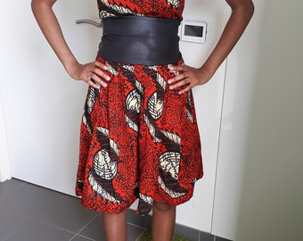 Wax belted dress