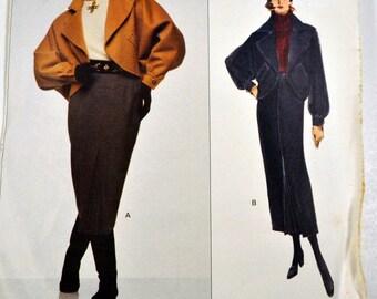Sewing Pattern VOGUE 1234 Bill Blass Designer Jacket and Skirt Uncut  Complete Size 8-12 Bust 30-34