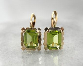 Pretty Peridot Drop Earrings EMPYW4-D