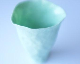 paris green porcelain vessel no.1