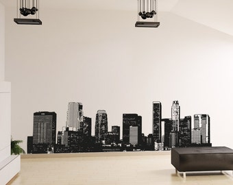 Vinyl Wall Decal Sticker LA Skyline OSAA899s