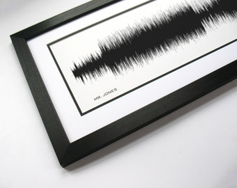 Mr. Jones - Sound Wave Art created from entire song,