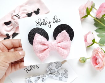 Baby Pink Bow Minnie Ears