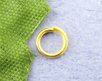 50 gold 9 mm jump rings