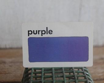 Vintage 1970s Flash Card // Purple