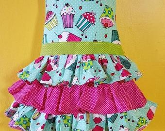 Girls ruffle aprons