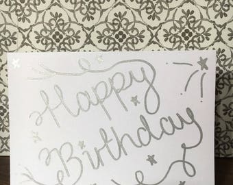Happy Birthday Card (Silver)