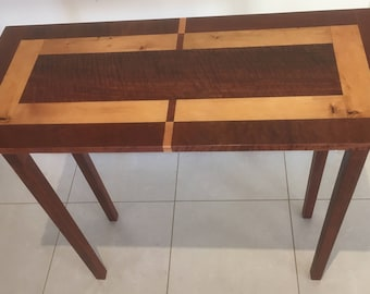 Bespoke Hall Table - River Redgum and Huon Pine