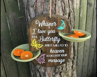 Sympathy Gift, Butterfly Feeder, Butterfly, Bereavement Gift, Sympathy, Memory, Butterflies