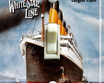 Titanic Vintage Travel Poster Decorative Single Switch Plate  ***FREE SHIPPING***