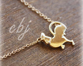 Rooster Necklace, Chicken Necklace, Chicken Jewelry, Chicken Charm Jewelry, Farmer Jewelry, Urban Farming Gifts,