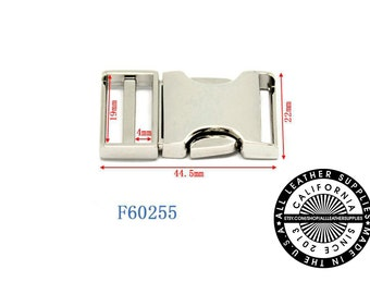 Metal Side Release Buckle, 19 mm Release Buckle, Metal Release, (F60255)