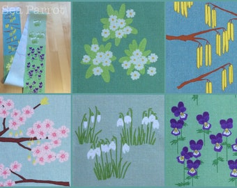 Spring flower fabric - 5 designs