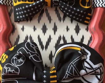 Pittsburgh Steelers Fabric Hair Bow