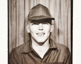 Original Vintage Photobooth Photograph | TJ Trucker