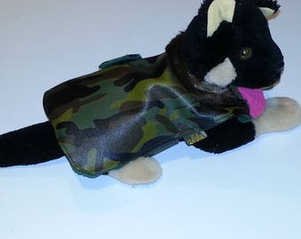 RAINCOAT TYPE CAMOUFLAGE FOR SMALL DOGS