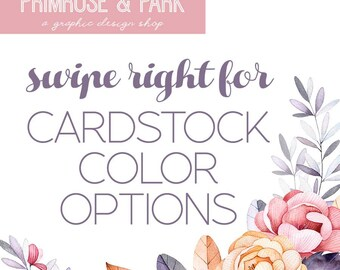 Cardstock Paper Color Selections